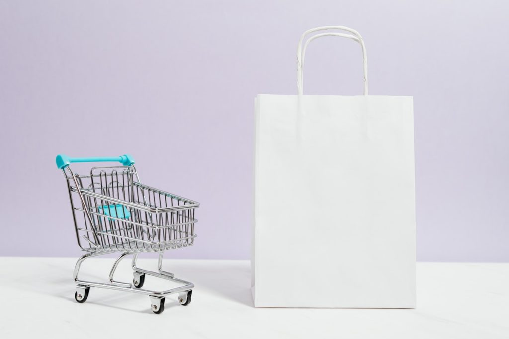 shopping bag and cart