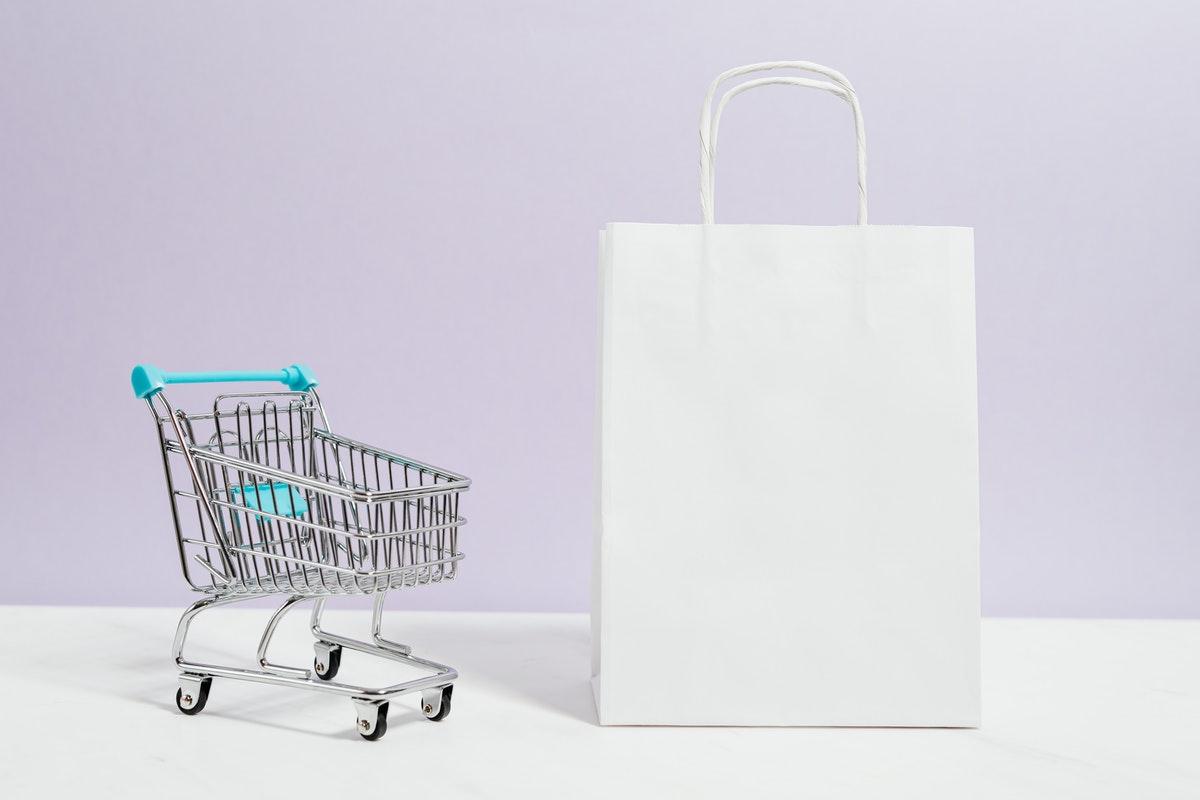 shopping bag and cart